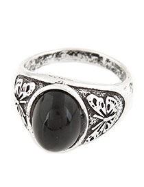 Fashion Black Waterdrop&butterfly Shape Decorated Simple Design Alloy Korean Rings