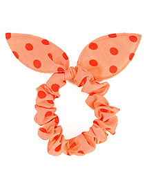 Vibrant Postercolor Big Dot Patttern Bowknot Shape Design Rubber Band Hair Band Hair Hoop