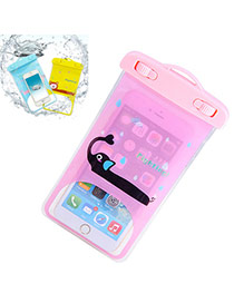 Transparent Pink Waterproof Phone Pocket Simple Design