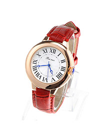 Couple Models Red Thin Strap Simple Design
