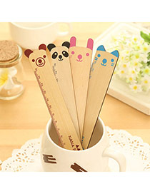 Lovely Random Color Cartoon Ruler Shape Simple Design Wood Other Creative Stationery