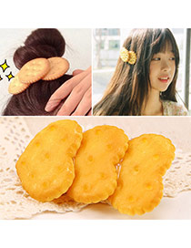 Creative Yellow Heart Cookie Shape Simple Design  Alloy Hair clip hair claw