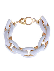 Trendy White Chain Shape Decorated Simple Design