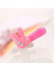 Sweet Pink Love Rabbit Decorated Simple Design  Acrylic Hair clip hair claw