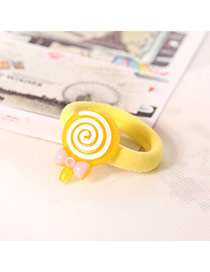 Sweet Yellow Lollipop Decorated Simple Design  Acrylic Hair band hair hoop