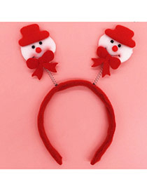 Lovely Red Snowman Shape Decorated Simple Design  Fabric Festival Party Supplies