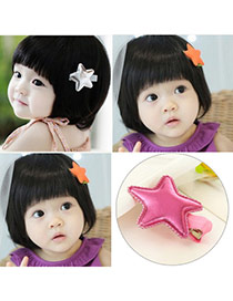Sweet Plum Red Star Shape Decorated Simple Design  Pu Kids Accessories