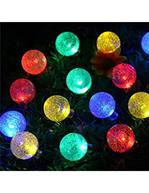 Personality colorful LED bubble decorated solar panel design Acrylic Festival Party Supplies