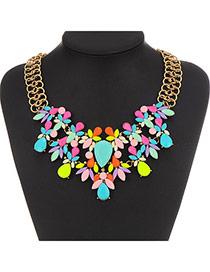 Exquisite Multi-color Gemstone Decorated Double Layer Design