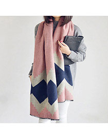 Fashion Apricot Pink Square Pattern Simple Design