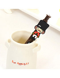 Personality Brown Soldier Decorated Simple Design  Plastic Writing Pens