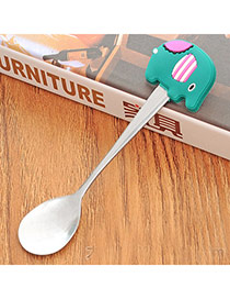 Personality Green Cartoon Elephant Decorated Simple Design Stainless Steel Household goods