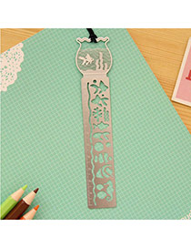 Personality Silver Color Fish Tank Decorated Hollow Out bookmark
