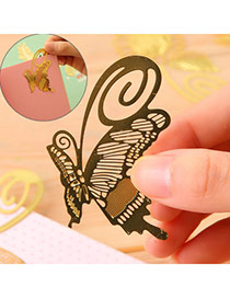 Personality Gold Color Hollow Out Butterfly Shape Simple Design Alloy Other Creative Stationery