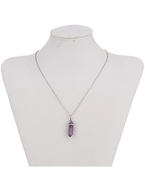 Fashion Purple Bullet Pendant Decorated Simple Design