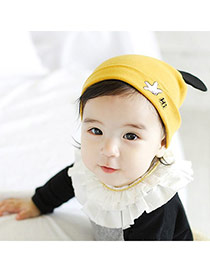 Lovely Yellow Letter Hi&bear Ears Decorated Simple Design