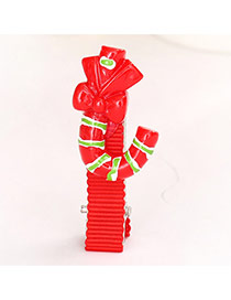 Cute Red J Shape Decorated Simple Design  Alloy Festival Party Supplies