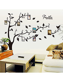 Creative Black Photo Frame Pattern Tree Shape Removable Design Wall Sticker  Pvc Household goods