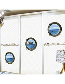 Creative Blue 3d Sea Pattern Removable Design Wall Sticker(3pcs)