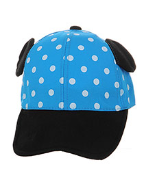 Cute Blue Dot&ears Decorated Color Matching Design