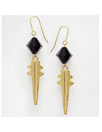Exaggerate Gold Color Beads&rivet Decorated Simple Design Alloy