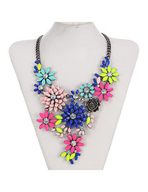 Luxury Multi-color Flower Shape Decorated Multilayer Design