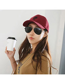 Fashion Plum Red Letter If Decorated Simple Design  Canvas Baseball Caps