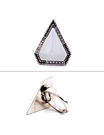 Fashion White Diamond Decorated Triangle Shape Design