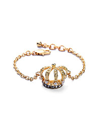Vintage White+gold Color Crown Shape Pendant Decorated Simple Design Alloy