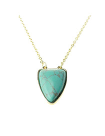 Trendy Green Triangle Pendant Decorated Simple Design