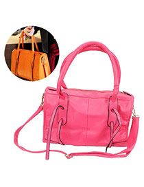 Fashion Plum Red Pure Color Decorated Simple Design