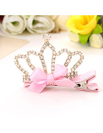 Cute Pink Bowknot&crown Shape Decorated Simple Design