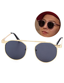Fashion Alloy Round Shape Frame Decorated Simple Design