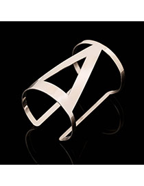 Trending Silver Color Hollow Out Triangle Opening Design