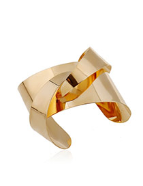 Trending Gold Color Pure Color Opening Design