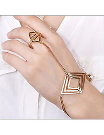 Trending Gold Color Rhombus Shape Decorated Simple Design