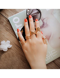 Fashion Gold Color Star Shape Decorated Multilayer Design