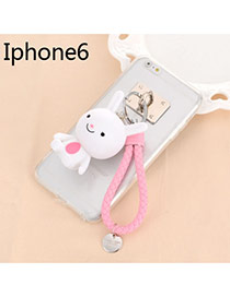 Sweet Pink Cartoon Rabbit Decorated Dots Descendants Of The Sun Resin Iphone 6