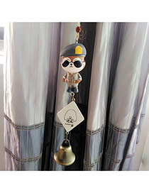 Fashion Brown Wolf Decorated Wind Chimes Dots Descendants Of The Sun Resin Household goods