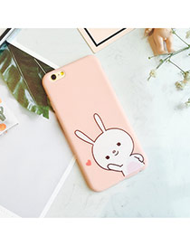 Fashion Pink Rabbit Pattern Design Dots Descendants Of The Sun Pu Iphone 6
