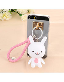 Trendy White Doll Pendant Mobile Phone Shell Dots Descendants Of The Sun