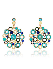 Exaggerate Blue Diamond Decorated Circle Shape Design