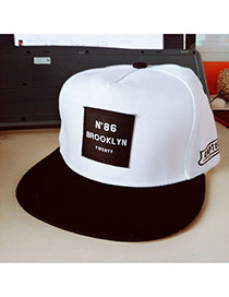 Fashion White Embroidery Letter Pattern Decorated Simple Design Fabric Baseball Caps
