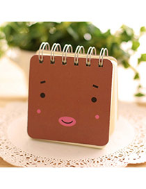 Lovely Brown Expression Pattern Simple Design Paper Stickers Tape