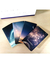 Lovely Random Color Starry Sky Pattern Simple Design Paper Stickers Notebook Paper Notebook Agenda