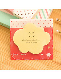 Lovely Yellow Smile Pattern Cloud Shape Design Paper Stickers Tape