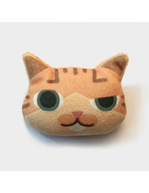 Lovely Brown Cat Pattern Decorated Simple Design Plush Wallet