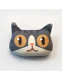 Lovely Coffee Cat Pattern Decorated Simple Design Plush Wallet