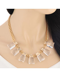 Fashion Gold Color Irregular Pendant Collar Design Alloy Bib Necklaces