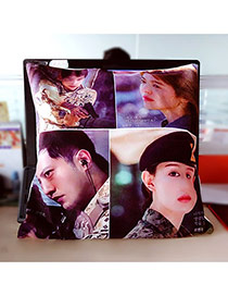 Fashion Multi-color Soldier Pattern Pillow Cases Dots Descendants Of The Sun